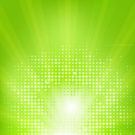 Eco Green Background With Sunburst Illustration