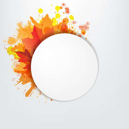 Grunge Background With Orange Speech Bubble