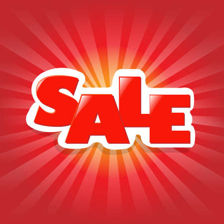 Red Poster Sale, Advertising Banner Vector