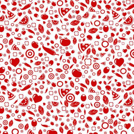Dark Red Background With Menu