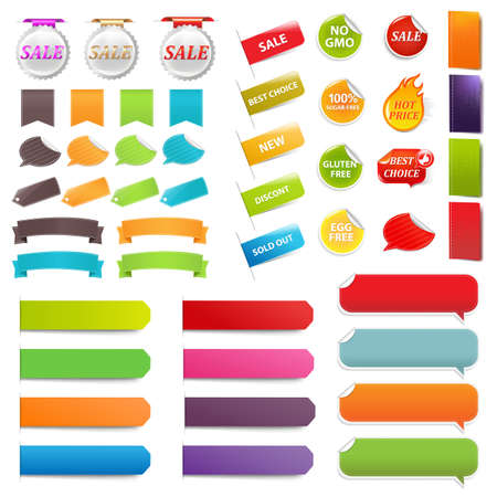 Set Speech Bubble Labels, Isolated On White Background