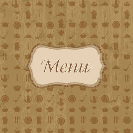 Vintage Wood Background With Menu Stock Vector - 15307645