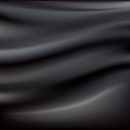 絹のテクスチャ、ベクトル イラストと黒の抽象的な布  イラスト・ベクター素材