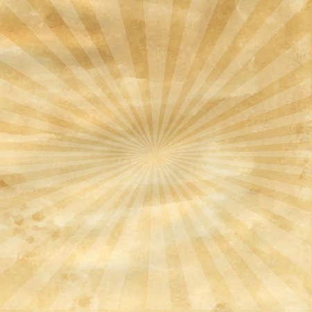 방사상: 레트로 햇살, 벡터 일러스트와 함께 오래 된 종이