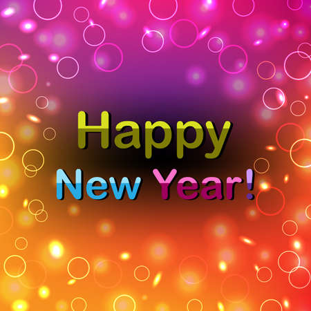 Color Happy New Year Poster, Illustration Stock Vector - 15759812