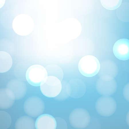 fondos azules: Fondo Azul Con Bokeh Y Blur, ilustraci�n vectorial