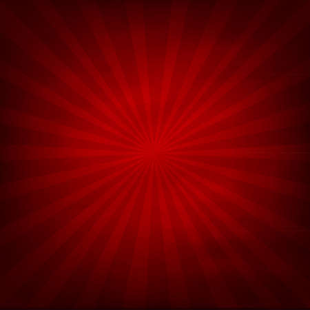 radial: Red Texture Background With Sunburst, Vector Illustration Illustration