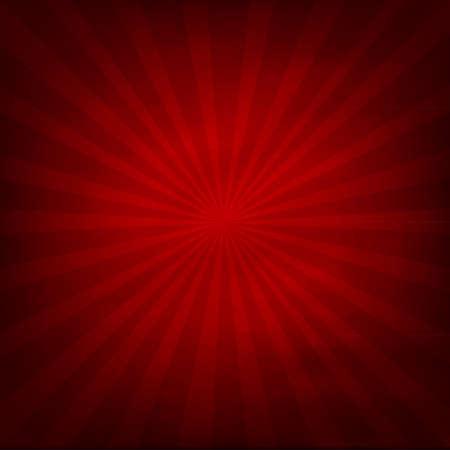 radiacion: Textura de fondo rojo con ilustración vectorial Sunburst,