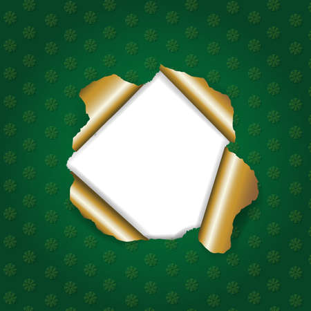 Christmas Green Torn With Gradient Mesh, Illustration Vector