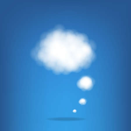 Cloud With Gradient Mesh, Illustration Stock Vector - 16434484