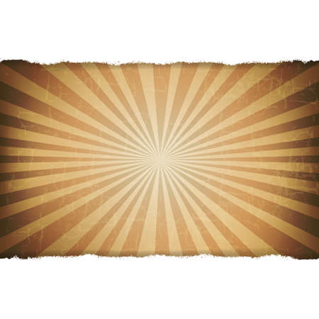 Rip White Paper With Sunburst Old Background With Gradient Mesh, Illustration Stock Vector - 16434673