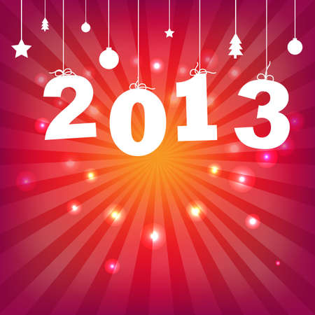 Color Happy New Years Card With Gradient Mesh, Illustration Stock Vector - 16667140