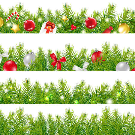 Big Borders Set With Christmas Tree, With Gradient Mesh, Illustration Stock Vector - 16667196