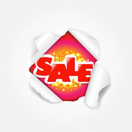 Sale Torn With Gradient Mesh, Illustration Stock Vector - 16667141