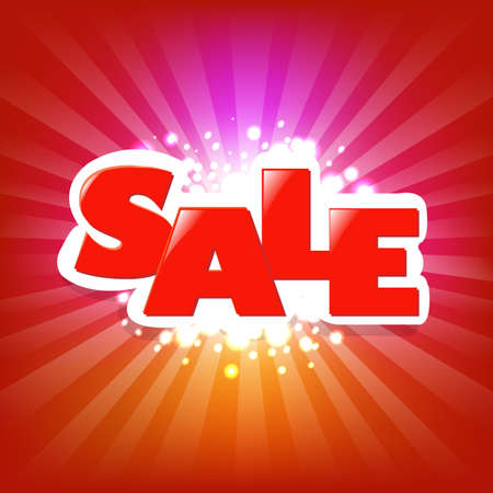 Bright Sale Poster With Blur With Gradient Mesh, Vector Illustration Stock Vector - 17331712
