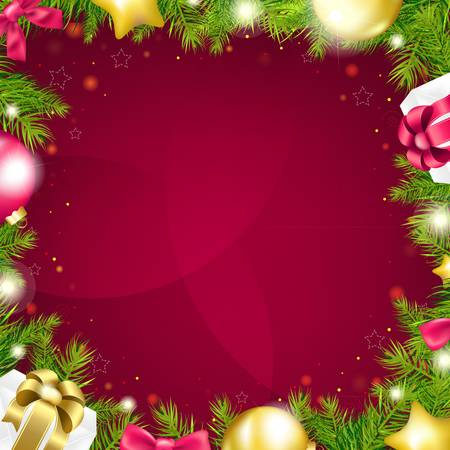 Lilac Christmas Background, With Gradient Mesh, Vector Illustration Stock Vector - 17331849