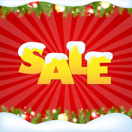 Red Sale Winter Poster With Gradient Mesh, Vector Illustration Stock Vector - 17331855