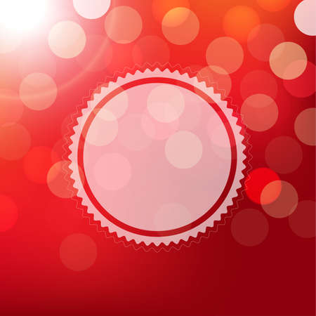 st valentine day: Red Background With Bokeh And Sphere With Gradient Mesh, Vector Illustration