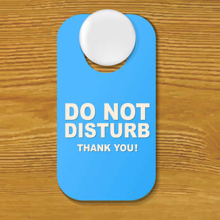 do not disturb sign: Do Not Disturb Blue Sign With Gradient Mesh, Vector Illustration