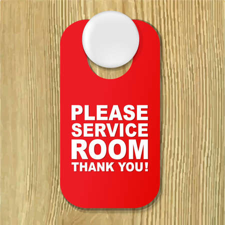 quiet room: Do Not Disturb Red Sign With Gradient Mesh, Vector Illustration Illustration