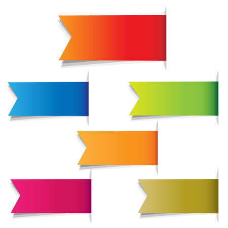 Color Labels, Isolated On White Background, Illustration Illustration