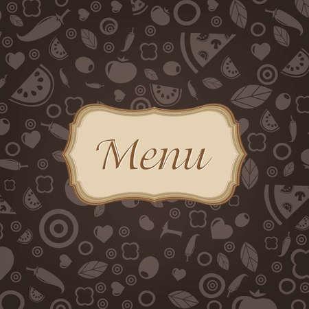 Restaurant Menu Design With Gradient Mesh, Vector Illustration Stock Vector - 19372722