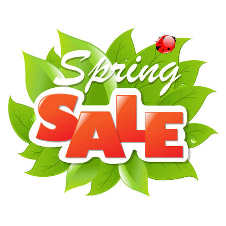 Spring Sale Poster With Gradient Mesh, Vector Illustration Stock Vector - 19372712