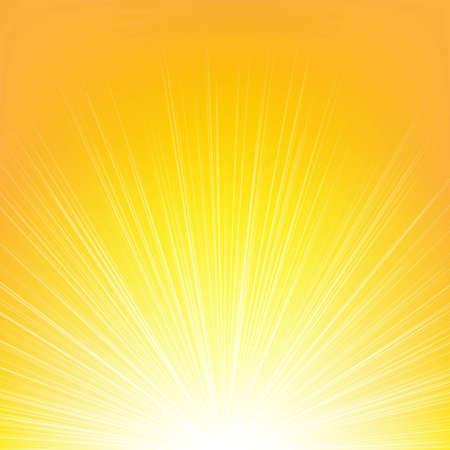 burning time: Summer Background With Gradient Mesh, Vector Illustration Illustration