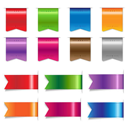 Big Sale Color Ribbons Set, Vector Illustration Stock Vector - 19580413