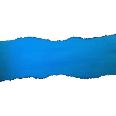 Blue Texture With Torn Paper With Gradient Mesh, Vector Illustration Illustration