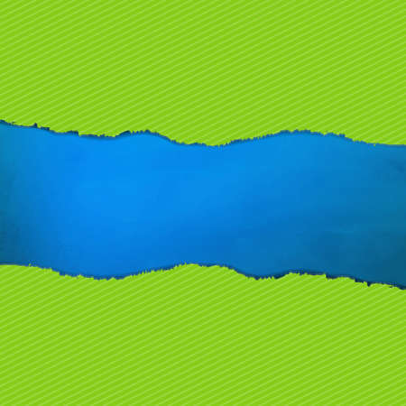 Blue Texture With Green Rip Paper With Gradient Mesh, Vector Illustration Stock Vector - 19802566