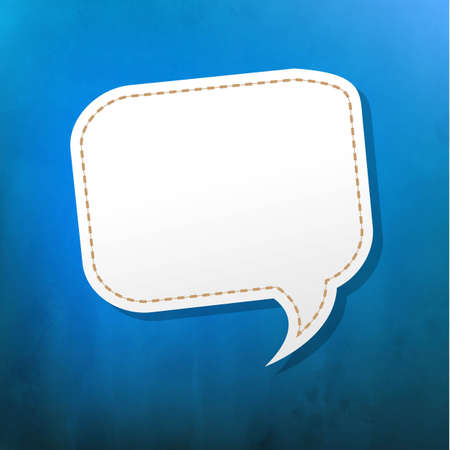Blue Texture With Speech Bubble With Gradient Mesh, Vector Illustration