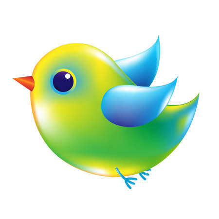 Green And Blue Bird With Gradient Mesh, Vector Illustration Stock Vector - 19802551