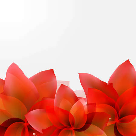 Borders Of Abstract Red Tulips With Gradient Mesh, Vector Illustration Vector