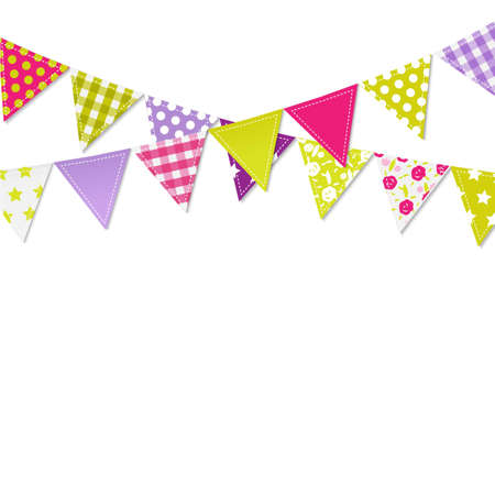 triangular banner: Bunting Flags, Vector Illustration