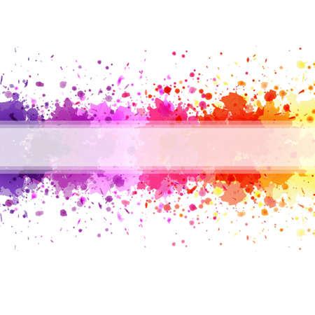 Color Blot Background, Vector Illustration