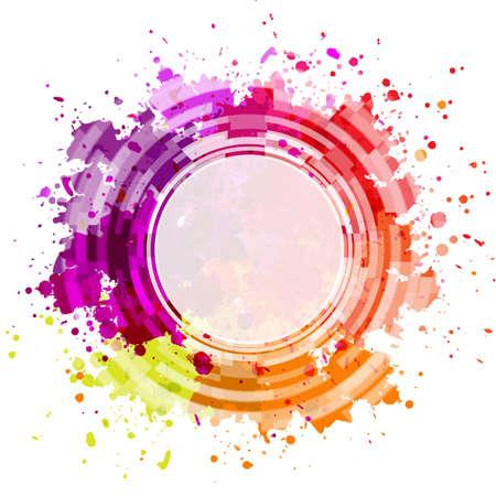 Colorful Blot Background, Vector Illustration