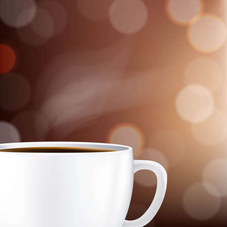 Cup With Coffee And Bokeh With Gradient Mesh, Vector Illustration Stock Vector - 22401721