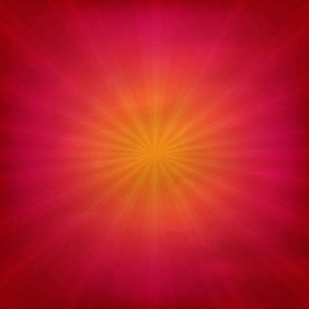 Grunge Red And Orange Texture With Sunburst With Gradient Mesh, Vector Illustration Vector