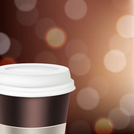 Paper Glass For Coffee With Gradient Mesh, Vector Illustration Stock Vector - 22401754