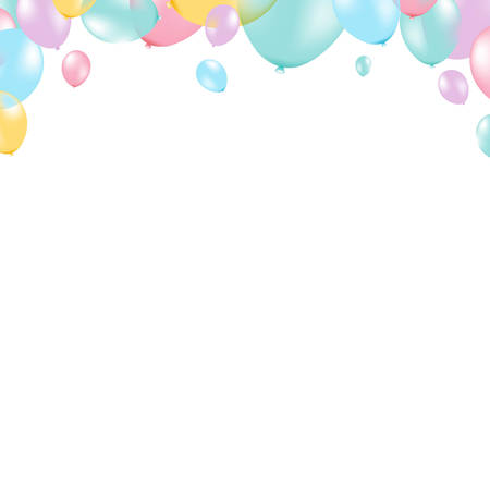 Pastel Balloon Frame, With Gradient Mesh, Vector Illustration Vector