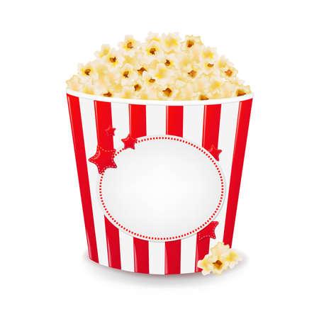 Popcorn in een kartonnen doos