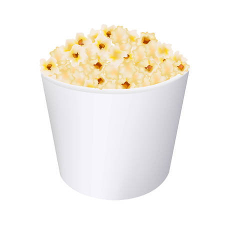 Popcorn In White Cardboard Box With Gradient Mesh, Vector Illustration Stock Vector - 22401789