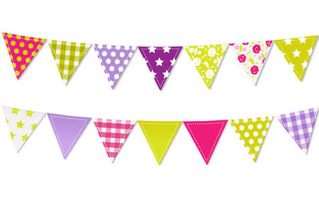 bunting flags: Triangle Bunting Flags, Vector Illustration