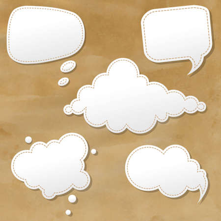 adhesive note: Vintage Grunge Texture With Speech Bubbles With Gradient Mesh, Vector Illustration Illustration