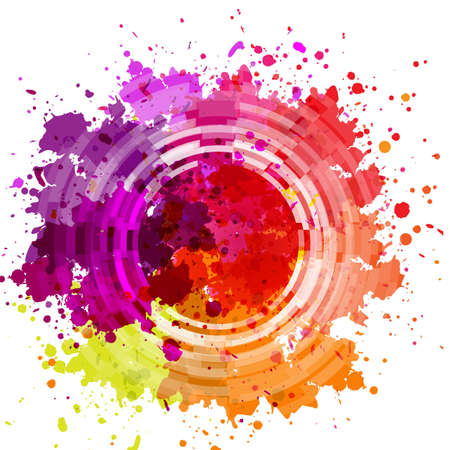 Watercolor Blot Abstract Background, Vector Illustration Stock Illustratie