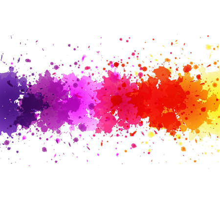 Watercolor Blot Abstract Background, Vector Illustration  イラスト・ベクター素材