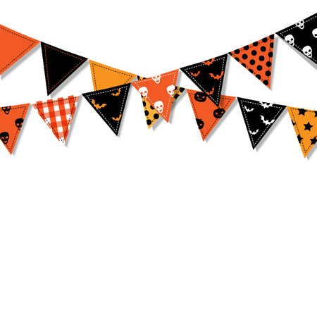 Halloween Bunting Flags, Vector Illustration Vector