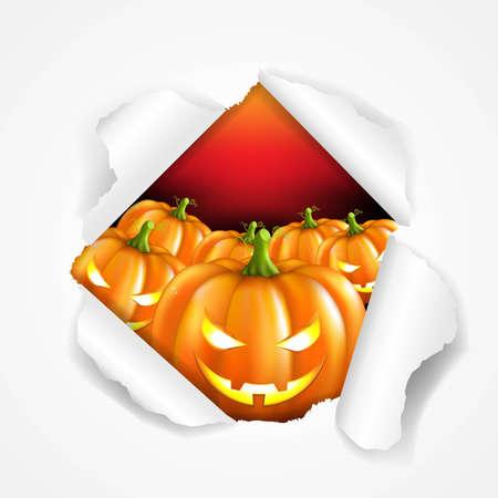 cucurbit: Retro Halloween Poster, With Gradient Mesh, Vector Illustration Illustration