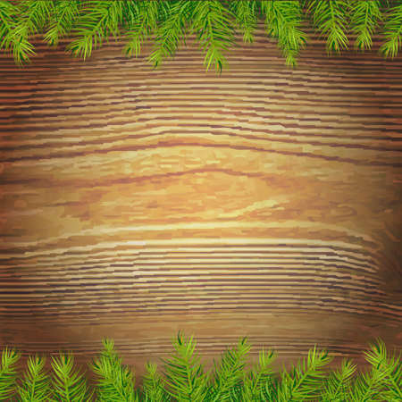 Xmas Wood Background, Vector Illustration Vector